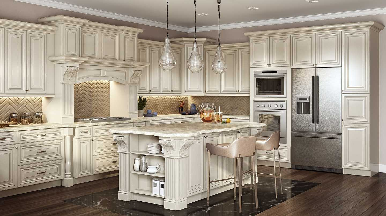 anitque white kitchen cabinets