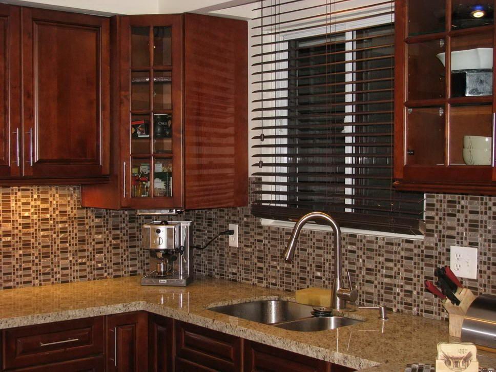 chestnut glaze cabinets