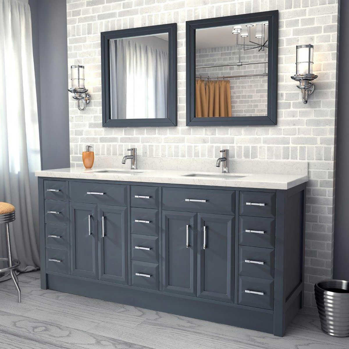 Step Charcoal Grey Vanities