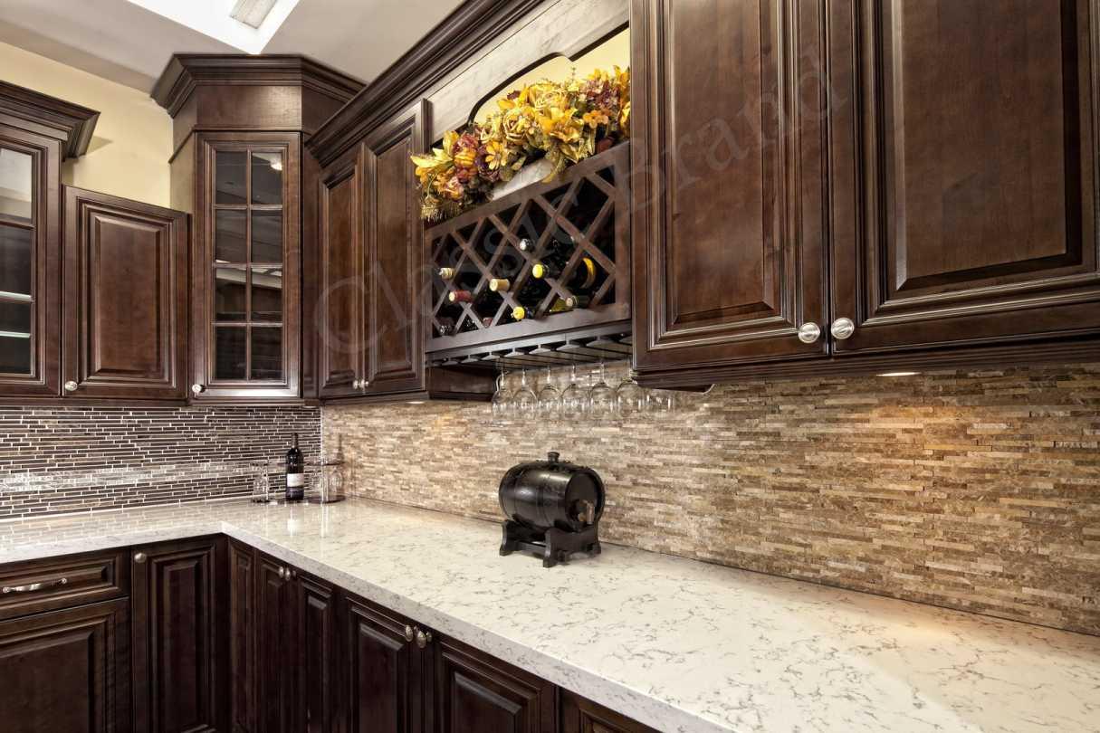 walnut glaze kitchen cabinets